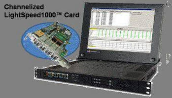 PCI Express Card offers channelized emulation and analysis. .