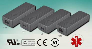 Medical 150 W Power Supplies meet Efficiency Level VI standards.