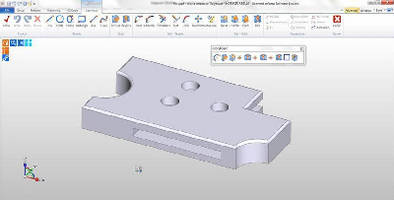 CAD/CAM Software converts 2D design data to 3D model.