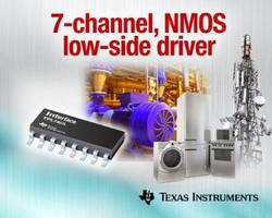 NMOS Low-side Driver replaces Darlington transistor arrays.