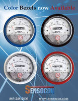 Differential Pressure Gauges offer colored bezel options.