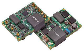 Regulated DC/DC Converters pack 85 W in 1/16th brick package.