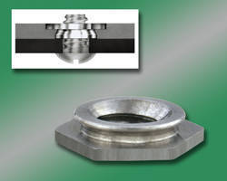 Self-Clinching Flush Nuts install into stainless steel sheets.
