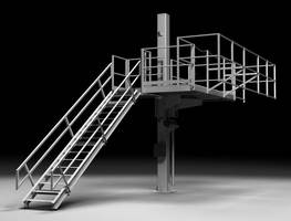 Elevating Platform offers safe access to tank trucks/cars.