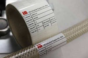 Self Laminating Hose Pipe Labels Protect Printed Variable