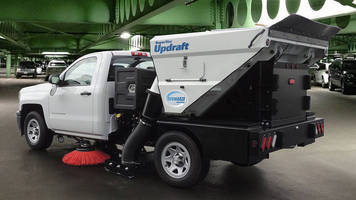 Twin-Engine Sweeper has fuel efficient, low-profile design.