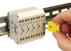 DIN Rail-Mount Thermocouple Terminal Blocks are fully enclosed.