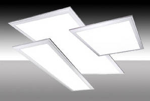LED Panels replace fluorescent fixtures in drop ceilings.