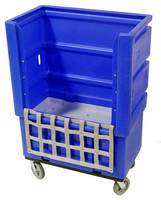 Ergonomic Bulk Linen Truck reduces bending and reaching.