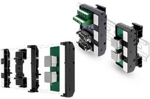 DIN Rail Terminal Modules feature expandable design.
