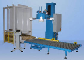 Bulk Bag Filling System incorporates pallet dispenser.