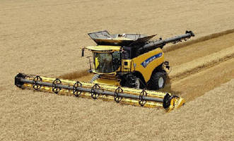 Combine Harvester features 652 hp engine.