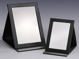 Folding Counter Mirrors are suited for travel and display.