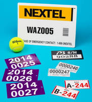 Serial Numbered Labels are sized to facilitate reading.