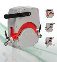 Peristaltic Pump enables quick-change hose replacement.