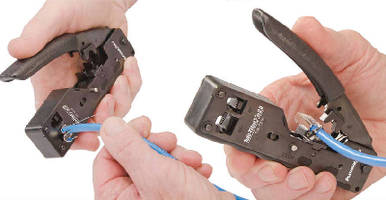 Cable Termination Tool exceeds 10-Gig performance standard.