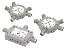 PIN Diode Switches offer 1-12 GHz range and 90 dB isolation.