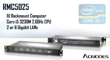 Rackmount Computer features Core i5 3230M 2.6 GHz processor.
