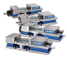 Single Station Vises offer 0.0005 in. clamping repeatability.