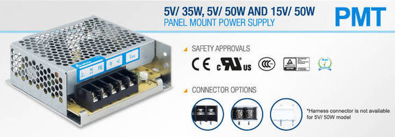 Panel Mount Power Supplies carry international safety approvals.