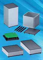 Electronic Enclosures  combine plastic and aluminum.