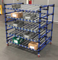 Mobile Flow Rack Features Wide Spans And 1 000 Lb Capacity
