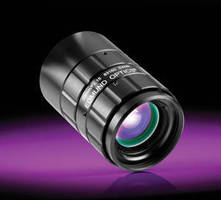 SWIR Fixed Focal Length Lenses suit inspection applications.
