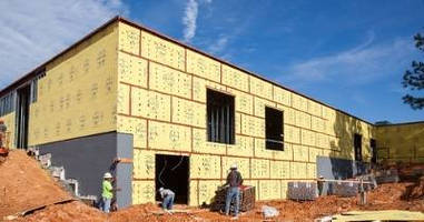 Sheathing with wrb ab accelerates exterior wall installation for Exterior sheathing options