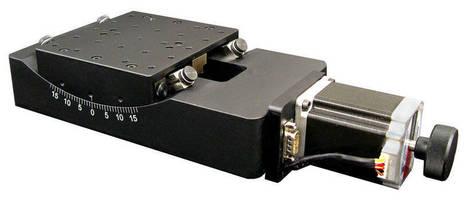 Precision Motorized Goniometer Stage Has Low Profile Design