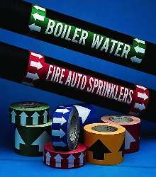 Pipe Markers identify contents and indicate flow direction.