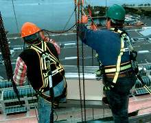 Harnesses and Lanyards meet OSHA standards.