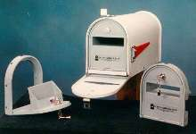 Locking Mailbox Door keeps mail safe and secure.