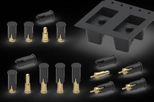 806 Series Spring Loaded Pins come with closed flat top.