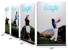Fabrilyte Display Stands are portable fabric pop up display.