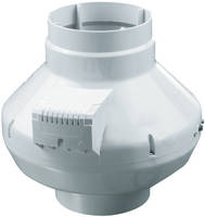 AXP In-Line Duct Fans come with UV resistant plastic housing.
