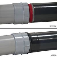 PVC Coated Sealing Locknuts feature integral sleeve on reverse side.