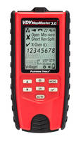 VDV MapMaster™ 3.0 Cable Tester features large backlit display.
