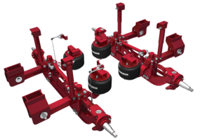 Air Suspension and Axle Systems are designed for truck cranes.
