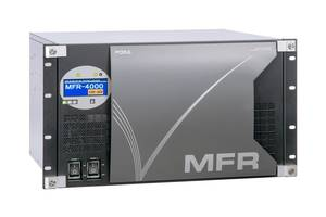 MFR-4000 12G-SDI Routing Switcher carries 4K video using single cable.
