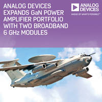 Gallium Nitride Power Amplifiers feature 2 GHz-6 GHz operating frequency.