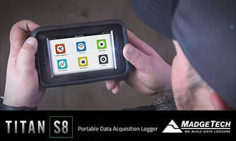 Titan S8 Data Acquisition Logger features capacitive touch screen.