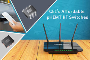 CEL CG2409 RF Switches are used as diversity switches.