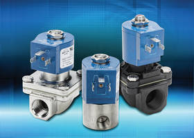 NS Series Solenoid Valves feature spring loaded plunger.