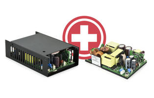 300 W Series AC-DC Power Supplies offer power density of 14.5 W/in^3.