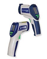 Pistol-grip Infrared (IR) Thermometers feature auto power-off mode.