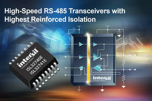 RS-485 Transceivers offer 40 Mbps of bidirectional data communication.