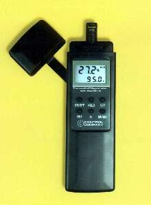 Hygrometer/Thermometer is traceable to NIST standards.