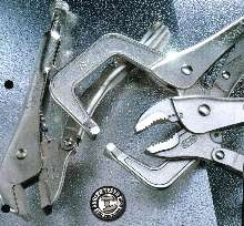 Locking Pliers are nickel-plated to resist rust.