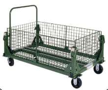 Material Handling Carts fold and store without tools.