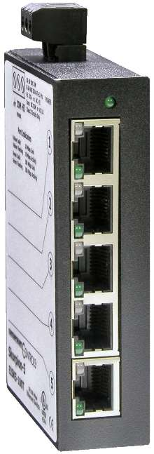 Ethernet Switch meets space requirements for automation.